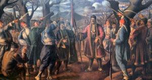 Песма гуслара, гусле, први српски устанак, академска српска асоцијација