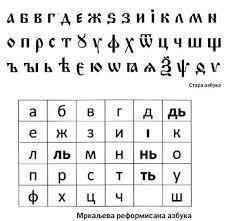 ћирилица, Сава Мркаљ, Академска српска асоциајција