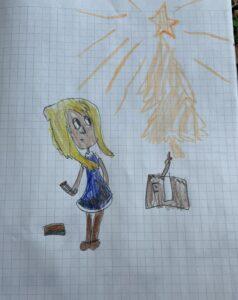 devojčica sa šipicama, na onlajn časovima srpskog jezika, Akademska srpska asocijacija