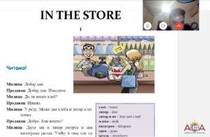 учење српског као завичајног језика, у продавници, академска српска асоцијација